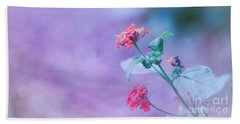 A Little Softness, A Little Color - Macro Flowers Beach Towel