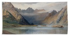 A Loch North Of Hadrian's Wall Beach Towel