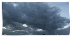 Alone In The Face Of The Storm Beach Towel by Arik Baltinester
