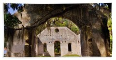 A Look Into The Chapel Of Ease St. Helena Island Beaufort Sc Beach Towel