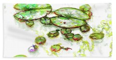 A Lotus Leaf Beach Towel by Lanjee Chee