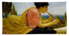 A Melody  Beach Towel by John William Godward