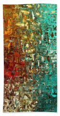 A Moment In Time - Abstract Art Beach Towel