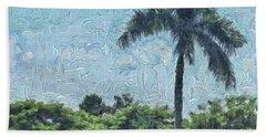A Monet Palm Beach Towel