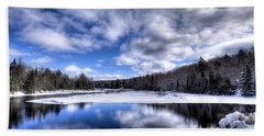 Beach Towel featuring the photograph A Moose River Snowscape by David Patterson