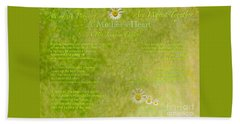 A Mother's Love Part II The Text Beach Towel by Kimberlee Baxter