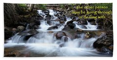 Beach Towel featuring the photograph A Mountain Stream Situation by DeeLon Merritt