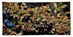 A Multitude Of Monarchs Beach Sheet