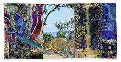A Narrow But Magical Door Beach Sheet
