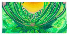 Beach Towel featuring the painting A New Beginning by Ania M Milo