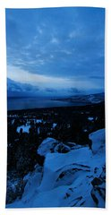 A New Day Dawns Over The Village Beach Towel by Sean Sarsfield