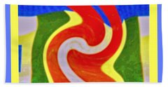 A New Twist Beach Towel by Shirley Moravec