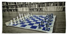 Beach Towel featuring the photograph A Nice Game Of Chess by Lewis Mann