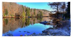 Beach Towel featuring the photograph A November Morning On The Pond by David Patterson