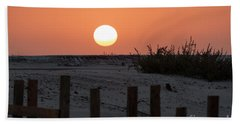 Beach Towel featuring the photograph A November Sunset Scene by Arik Baltinester