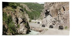 A Parade Of Atvs On The Alpine Loop Backcountry Byway Beach Towel