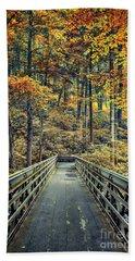 A Path Into Autumn Beach Towel