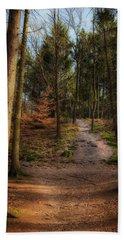 A Path Through The Woods Beach Towel