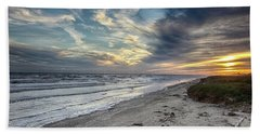 A Peaceful Beach Sunset Beach Towel
