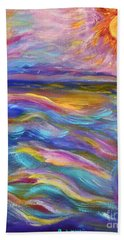 A Peaceful Mind - Abstract Painting Beach Towel