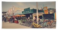 A Perfect Day For A Ride Beach Towel by Laurie Search