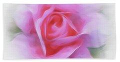 A Perfect Pink Rose Beach Sheet