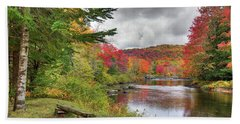 A Place To View Autumn Beach Sheet by David Patterson