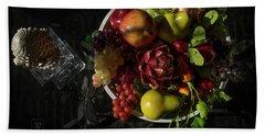 A Plate Of Fruits Beach Sheet