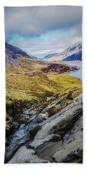 Beach Towel featuring the photograph A Portrait Of Snowdonia by Nick Bywater