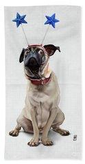 A Pug's Life Wordless Beach Sheet