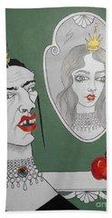 A Queen, Her Mirror And An Apple Beach Sheet