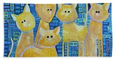 A Quorum Of Cats Beach Sheet