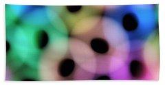 A Rainbow Of Circles Beach Towel