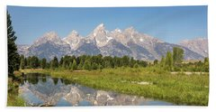 A Reflection Of The Tetons Beach Towel