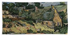 Beach Towel featuring the digital art a replica of the landscape of Van Gogh by Pemaro