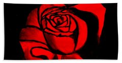 A Rose For Delilah  Beach Towel