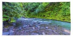 Beach Towel featuring the photograph A River by Jonny D
