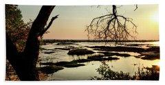 A River Sunset In Botswana Beach Towel