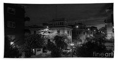 A Roman Street At Night Beach Towel