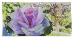 A Rose By Any Other Name Beach Sheet