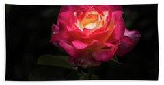 A Rose For Love Beach Sheet