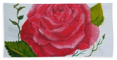 A Rose For You Beach Sheet