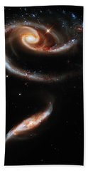 A Rose Made Of Galaxies Beach Towel