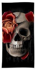 A Rose On The Skull Beach Towel