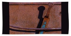 Beach Towel featuring the photograph A Rusted Development II by Paul Wear