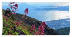 A Scenic View From Mount Vesuvius Beach Towel