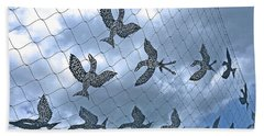 A Sculptural Flock No. 103-1 Beach Towel by Sandy Taylor