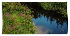 Beach Towel featuring the photograph A Serene Scene In The Magical Irish Countryside by James Truett