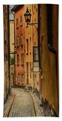 A Side Street In Stockholm Beach Sheet