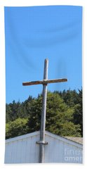 Beach Sheet featuring the photograph A Simple Cross by Marie Neder